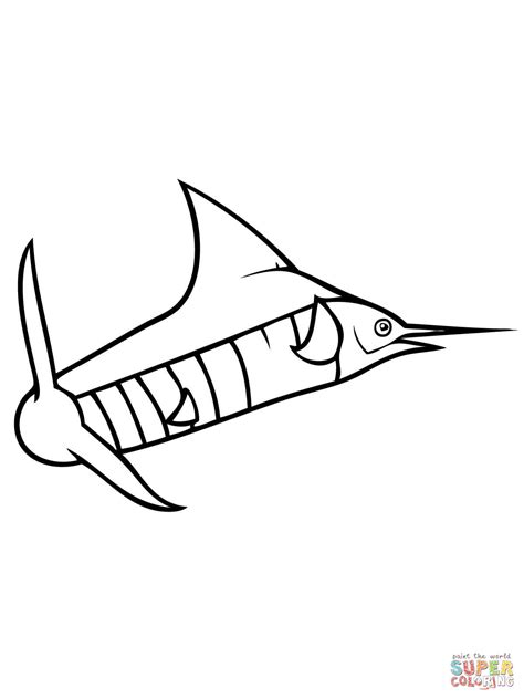 marlin fish coloring pages blue marlin fish coloring page supercoloring com