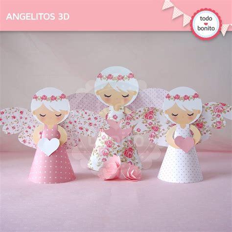 souvenirs para un ao con tarro de dulce de leche shabby chic rosa angelitos 3d todo bonito