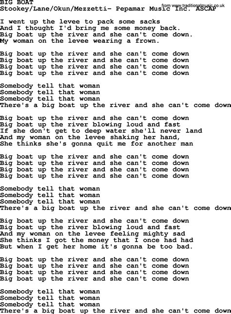 peter paul and mary song big boat lyrics - Big Boat By Peter Paul And Mary