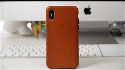 apple iphone  leather case review youtube