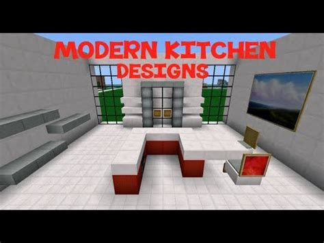 Minecraft Modern Kitchen Designs Minecraft Modern Kitchen Designs