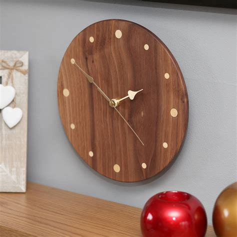 Handmade Wood Clocks - handmade wood wall clock by berry apple