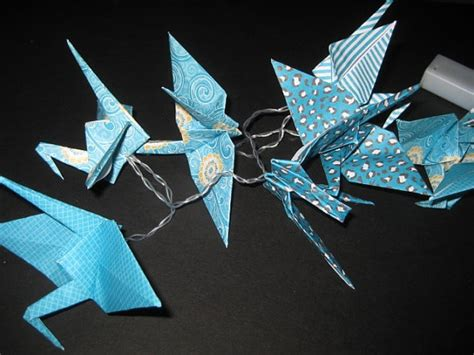 Origami Crane String - 1000 images about origami string light on