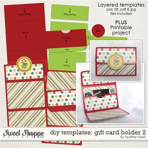 gift card holder diy template sweet shoppe designs your memories sweeter