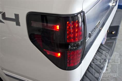 ford truck led lights 2009 2014 f150 raptor recon led tail lights smoked