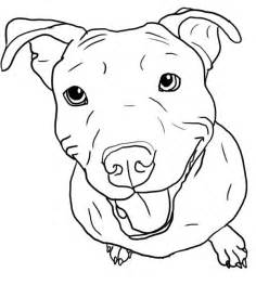 Pitbull Coloring Page Pages Of A Stick Her  sketch template