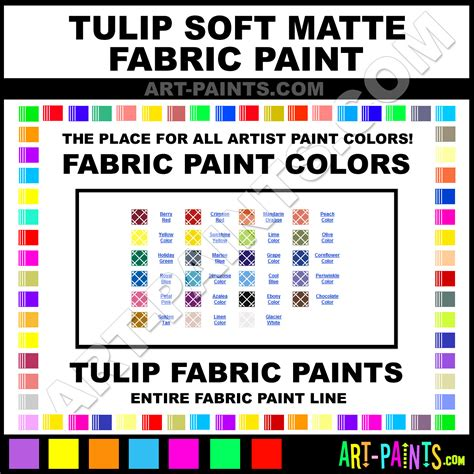 tulip soft matte fabric textile paint colors tulip soft matte paint colors soft matte color