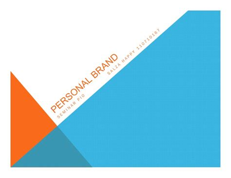 Personal Branding Mba by Personal Brand Ppt Mba Chaa