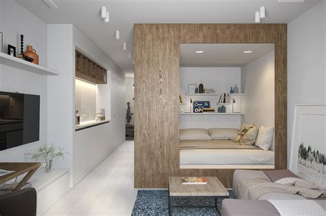 Modern Studio Apartment plans pour am 233 nager et d 233 corer un appartement de 30m2