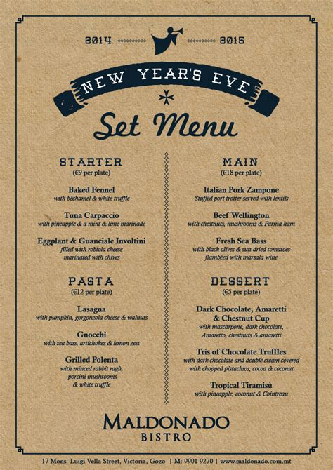new year menu new year s menu now available maldonado bistro
