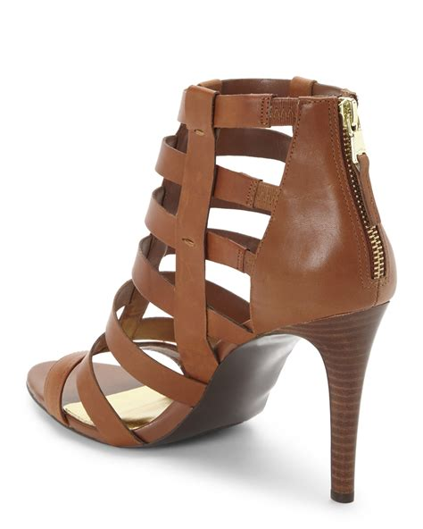 ralph sandal lyst ralph caged sandals in brown