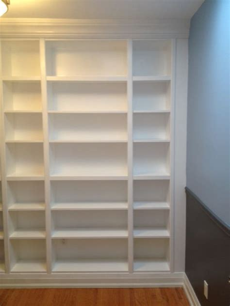 prefabricated bookcases look like built ins diy how to install ikea bookcases so they look like built