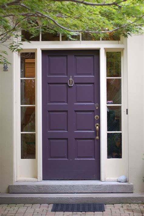 door paint colors purple paint color for front door