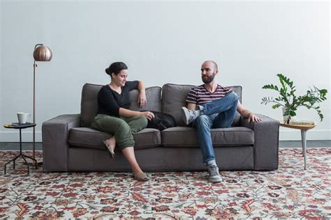 person on couch the best online sofa reviews by wirecutter a new york