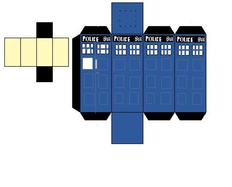 dr who tardis cubeecraft template by cubeecrafter312 on