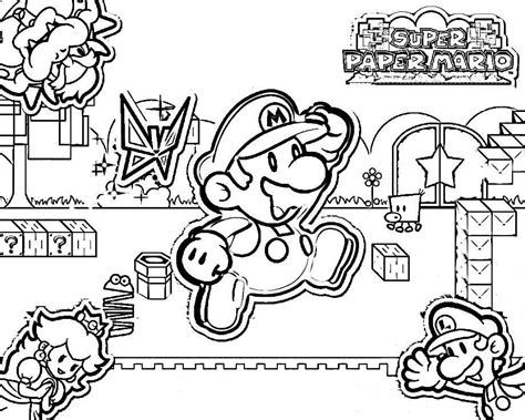 Coloring Pages Mario 3d World Coloring Home Mario 3d World Coloring Pages
