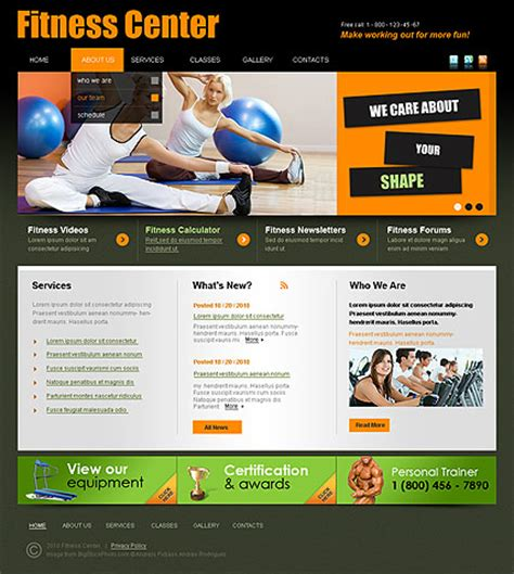 Download Fitness Web Site Template Free Istthepiratebay Free Fitness Website Templates
