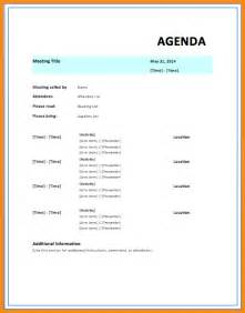 Agenda Template Word by 6 Meeting Agenda Template Word Workout Spreadsheet