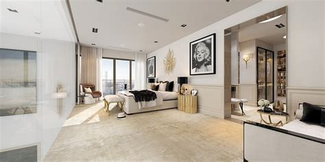 A Modern Art Deco Home Visualized In Two Styles Deco Bedroom Design