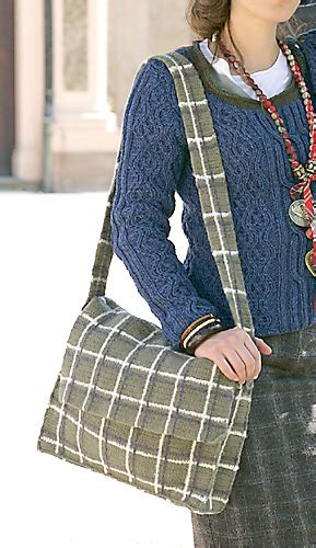 Mshc Shoulder Bag ravelry 06 plaid shoulder bag pattern by verena design team