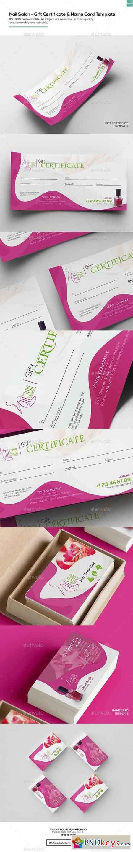 nail salon business card template free nail salon gift certificate and business card template
