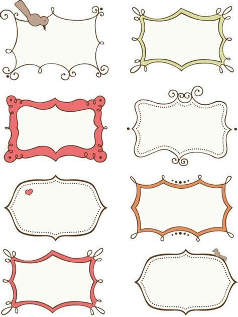design free printable labels 15 best images about doodle frames border labels on