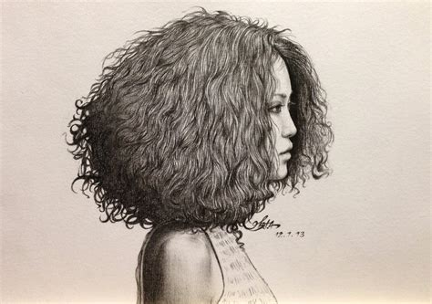 drawing curly hair curly haired girl by chingybta on deviantart