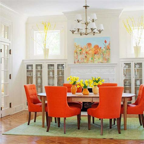 dining room table and chair sets traditional dining room with orange chairs pendant l