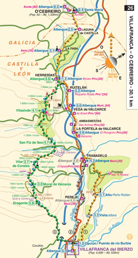camino de santiago guide brierley maps only guide to the camino de santiago