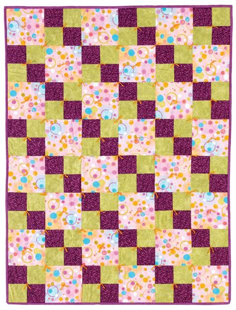 Easy Patchwork Quilts - 26 best basic fast and easy patchwork patterns for