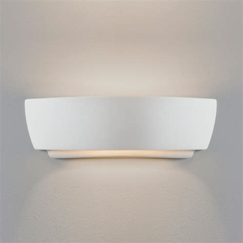 Up And Lighting Wall Sconce Astro Kyo 7075 White Ceramic Interior Up And Wall