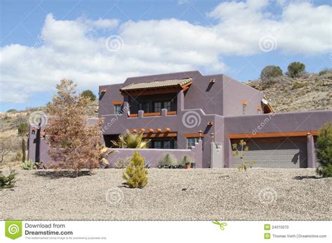 Adobe Homes For All Climates usa arizona new adobe house in a desert stock photo