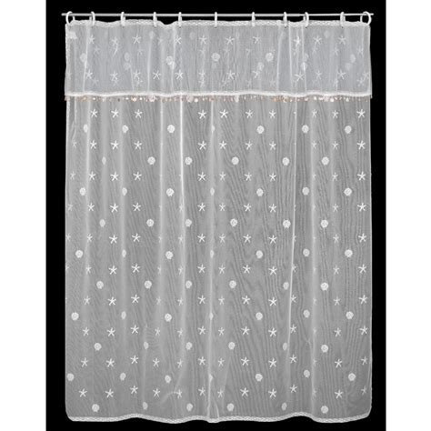 Shell Shower Curtain by White