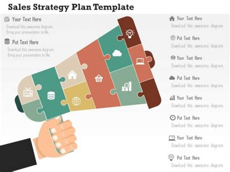 Sales Business Plan Template Ppt business diagram sales strategy plan template presentation