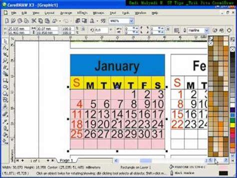 tutorial desain kalender coreldraw tutorial membuat kalender tutorial coreldraw belajar