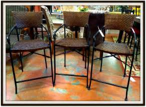 Pier One Bar Stools Discontinued Black Wicker Bar Stool With Back Combined Grey Metal Panel