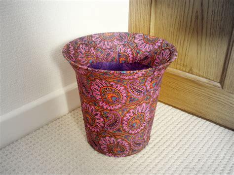 Fabric Decoupage - fabric decoupage mayfair plumes waste bin sewing