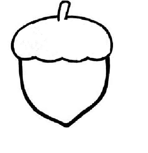 acorn coloring pattern coloring pages