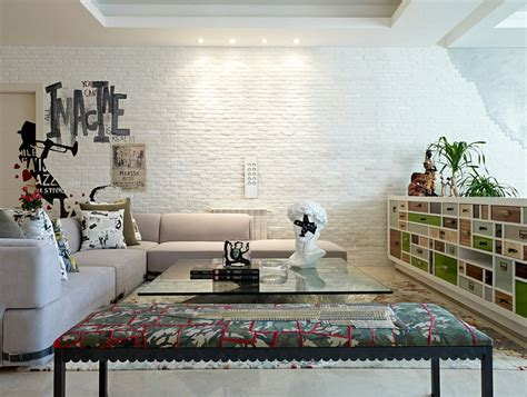 Contemporary Livingroom 100 Brick Wall Living Rooms That Inspire Your Design