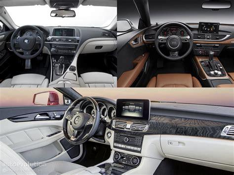 Bmw Vs Mercedes Interior by Mercedes Cls Vs Audi A7 Vs Bmw 6 Gran Coupe Design