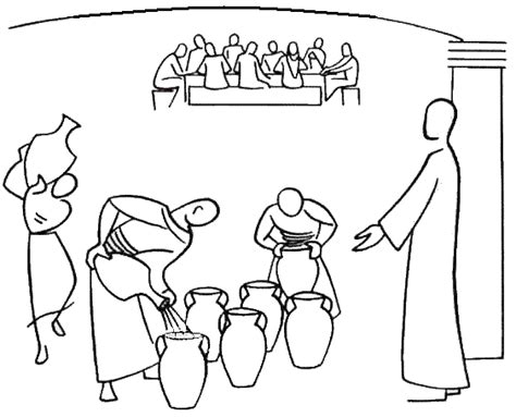 bible coloring pages water into wine turns water into wine at the bible coloring sheets wedding