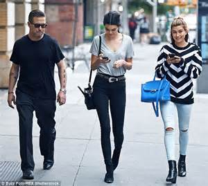 hailey baldwin joins kendall jenner and dad stephen in new