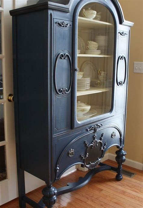 chalk painted china cabinet painted vintage china cabinet hometalk