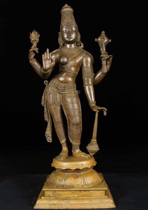 god statue bronze half vishnu lakshmi 24 quot 9bc3 hindu gods