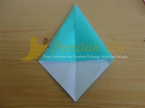 gambar cara membuat origami bunga tulip membuat origami bunga tulip