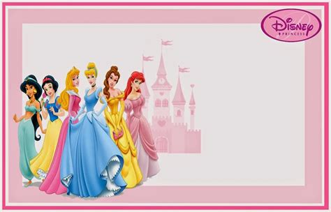 disney princess birthday card templates disney princess free printable invitations or photo