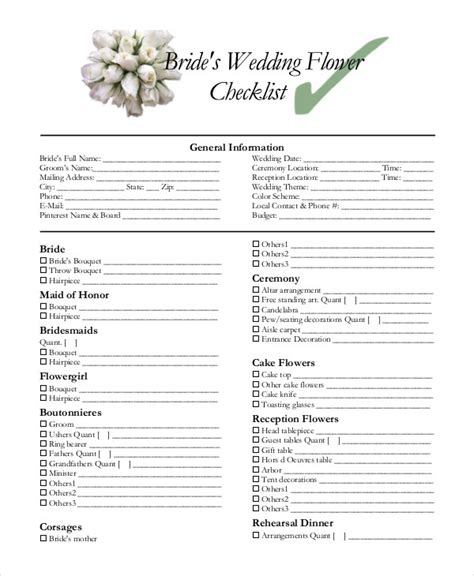 Wedding Reception Checklist Template by Wedding Decoration Checklist Pdf Billingsblessingbags Org