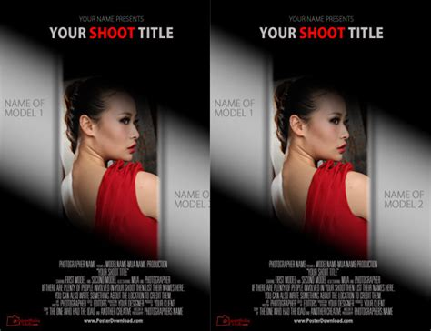 movie poster photoshop template gallery
