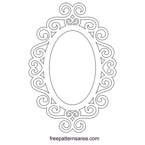 Square Marco Oval square mirror frame clipart vector oval princess sketch