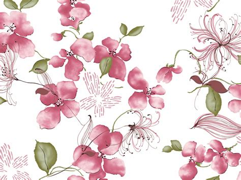 Set 2in1 Sabrina Batik vintage flower wallpaper beautiful desktop wallpapers 2014